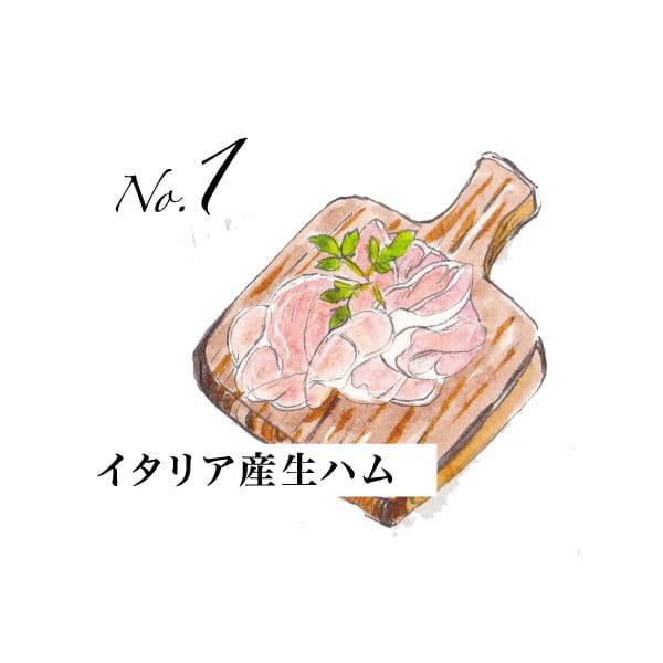 No.1 イタリア産生ハム